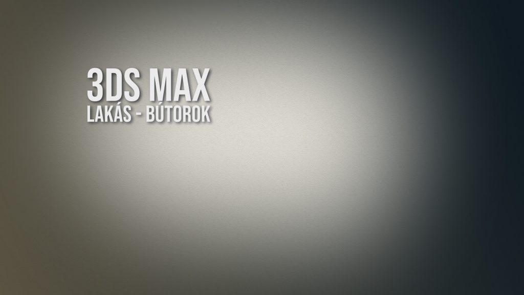 3ds Max – lakás, bútorok
